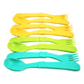 Spoons & Forks Aqua, Green & Orange -