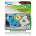 Bliss Button Pacifier Blue -