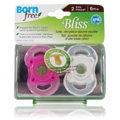 Bliss Button Pacifier Pink -