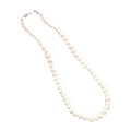 White Pearl Like Magnet Necklace -