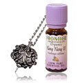 Angel Pendant Necklace with Ylang Ylang III Essential Oil Combo -