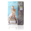 Relish Sheer FP50854 Stocking Shiny Heartline Black ML -