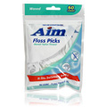 Waxed Nylon Thread Floss Picks -
