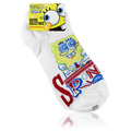 Spongebob Squarepants White Socks Happy Face -