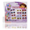 Dora The Explorer Sticker Earrings & Ring Set -