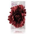 Burgundy  Flower Salon Clip -