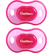 Gerber first essentials comfort fit pacifier, sz2, 2pk, silicone -