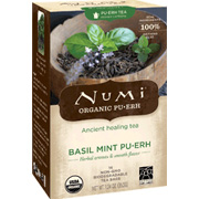 Organic Pu erh Tea Basil Mint Pu erh Black Tea Blend -