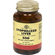 Lyophilized Liver with Naturally-Occurring SOD -