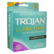 Ultra Thin Lubricated Latex Condoms -