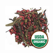 Green Tea Strawberry Flavor Organic -