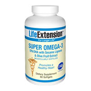 Super Omega 3 EPA/DHA with Sesame Lignans &amp; Olive Fruit Extract - 