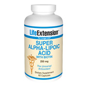 Super Alpha Lipoic Acid with Biotin 250 mg -