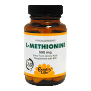 L-Methionine 500 mg w/B6 -