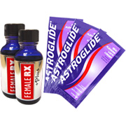 Buy 2 Female Rx +Plus & Get 3 Single Astroglide Personal Lubricant for FREE -