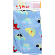 Baby Blanket w/Cars Design -