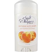 Soft Whisper Nectarine White Ginger Deodorant -