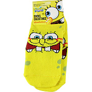 Spongebob Squarepants Yellow Socks Laughing Face -