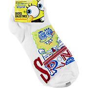 Spongebob Squarepants White Socks Happy Face -