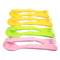 Spoons & Forks  Pink, Green & Orange -