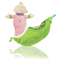Snuggle Pods Sweet Pea Soft Rattle -