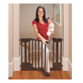 Sure & Secure Deluxe Top of Stairs Wood Walk Thru Gate -