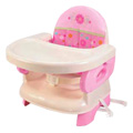 Deluxe Comfort Folding Booster Seat Pink Happiness -