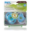 Bliss Button Pacifier Blue -