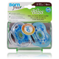 Bliss Handle Pacifier Blue -