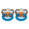 Trendline animal prints orthodontic pacifier sz1, 2pk, silicone -