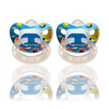 Photo real orthodontic pacifier sz2, 2pk, silicone -