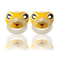 Animal faces orthodontic pacifier sz2, 2pk, silicone  -