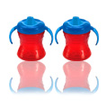 Gerber Graduates fun grips w/seal zone 2-handle trainer soft spout sippy cup 7oz, 2pk, 6m+ -