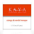 ORANGE & SANDAL MASQUE -