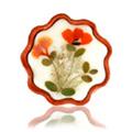Flower Candle Sandalwood Flower Shape