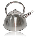 Brushed Stainless Steel Whistling Tea Kettle -