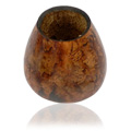 Mate Gourd Fired Decorated with Burned Design -