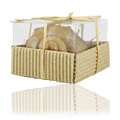 Brown White Seashell Shaped Candle -