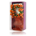 Dark Orange Candle Holder -