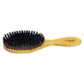 Hairbrush Boar Bristle Hair Drying Wood Handle -