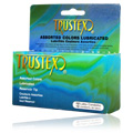 Trustex Assorted Colors Lubricated Condoms with Reservoir Tip -