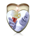 Peach Edible Heart Suntouched Candle -