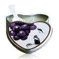 Grape Edible Heart Suntouched Candle -