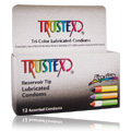 Tri Color Reservoir Tip Condoms -