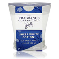 Sheer White Cotton Candle -