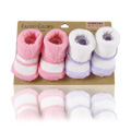 Newborn Sock Pink & Purple -