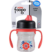 Foogo Leak Proof Sippy Cup w/ Handles Poppy Patch Design -