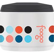 Foogo Foam Insulated Snack Jar Black w/ Poppy Patch Multi Dots -