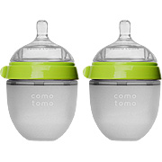 Natural Feel Baby Bottle Double Pack Green -