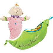 Snuggle Pods Sweet Pea Soft Rattle -